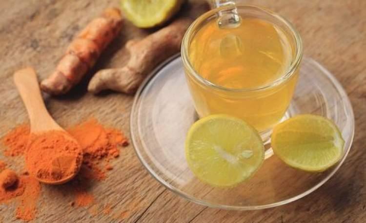 infuso con curcuma e limone