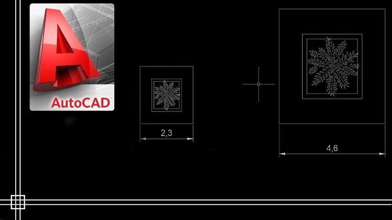 ridimensionare oggetti con autocad