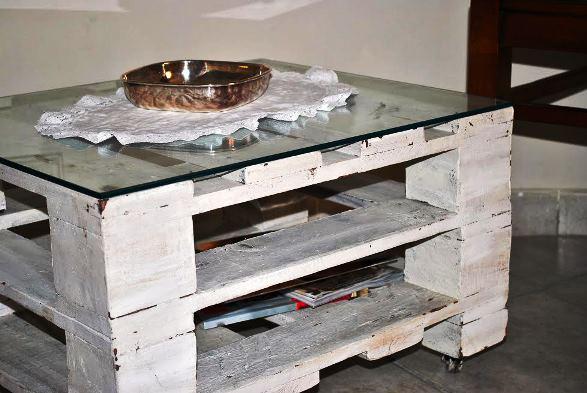 Come realizzare un tavolino con delle pedane di legno - Tavolo con pedane ...