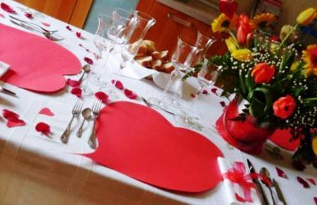 come preparare la tavola di san valentino
