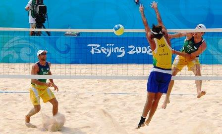 Beach Volleyball Action