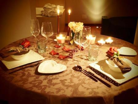 una cena romantica e particolare