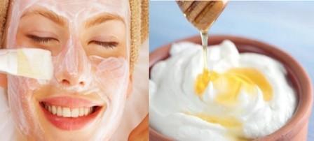 ingredienti per la maschera allo yogurt