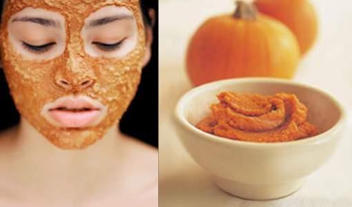 Maschera per la bellezza del viso alla zucca