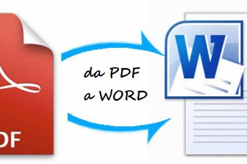trasformare i pdf in word