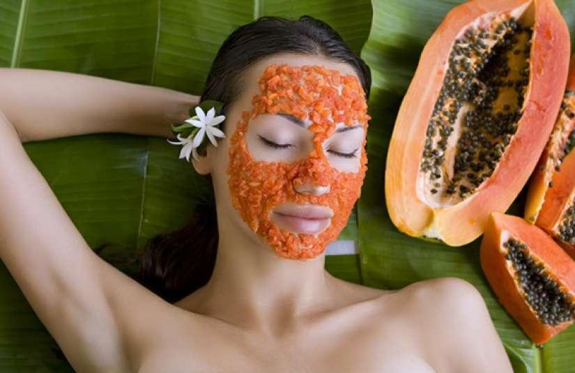 trattamento di bellezza alla papaya