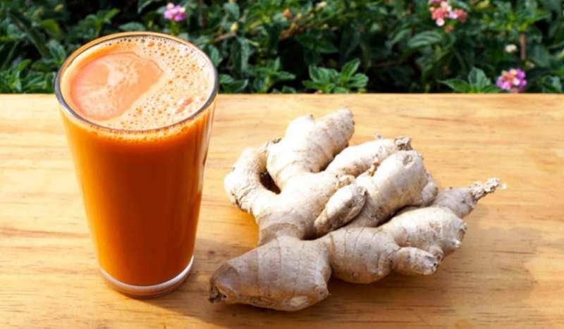 ricetta succo di carota e zenzero