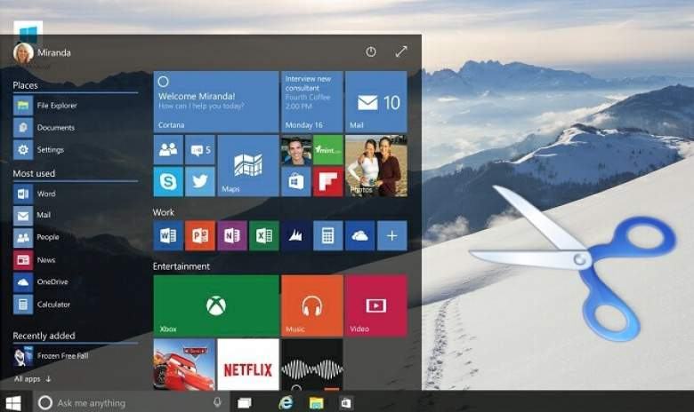 fare lo screenshot con windows 10