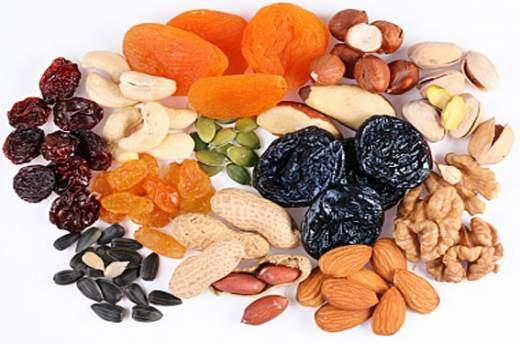 muscoli e frutta secca