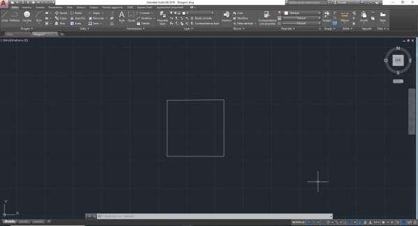 disegnare quadrato autocad