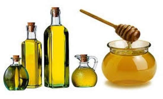 olio e miele per i capeelli