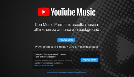 youtube premium scaricare musica