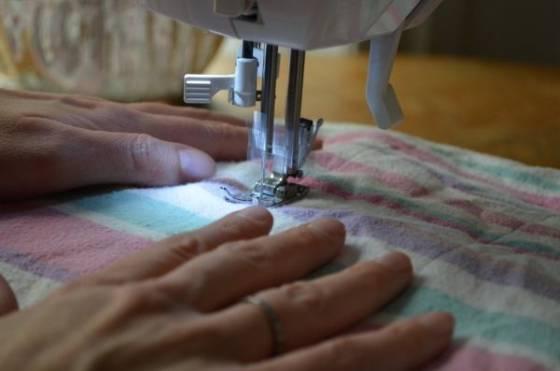 cucire coperta calda