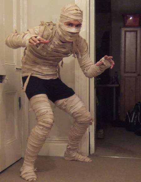 vestito da mummia