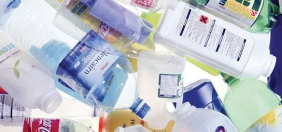 bottiglie di plastica riciclate