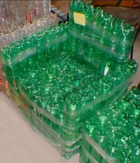 sedia di plastica reciclata