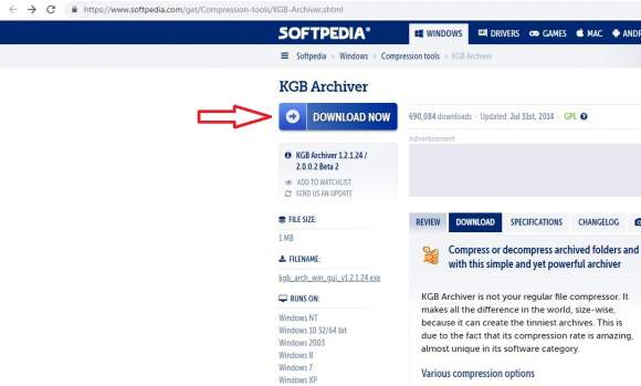 kgb archiver download