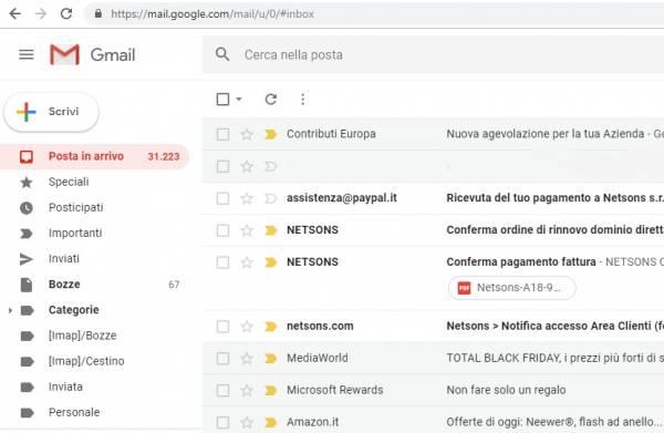 posta elettronica gmail