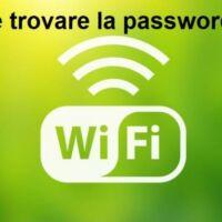 trovare la password