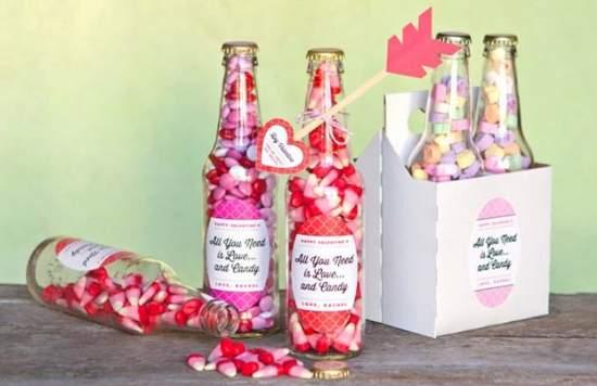 bottiglia per san valentino