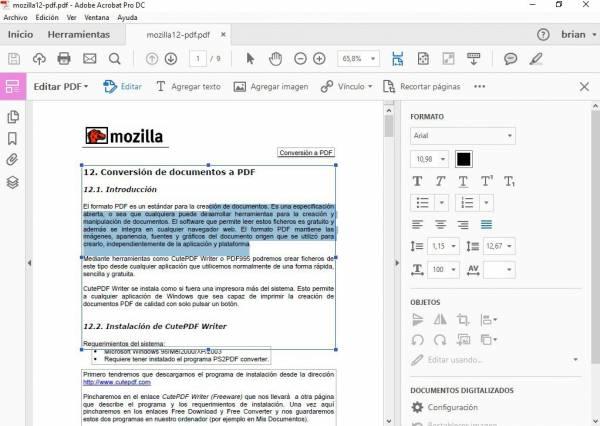 modificare file pdf adobe