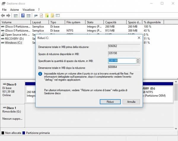 partizione hard disk