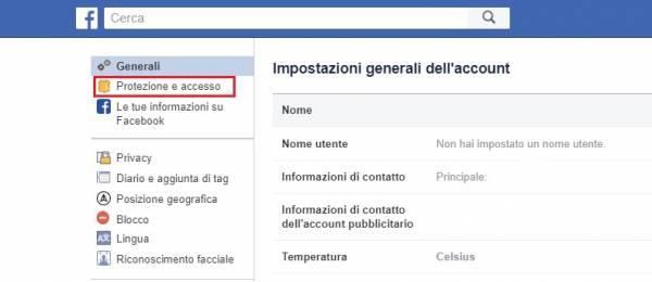 protezione a due fattori di facebook