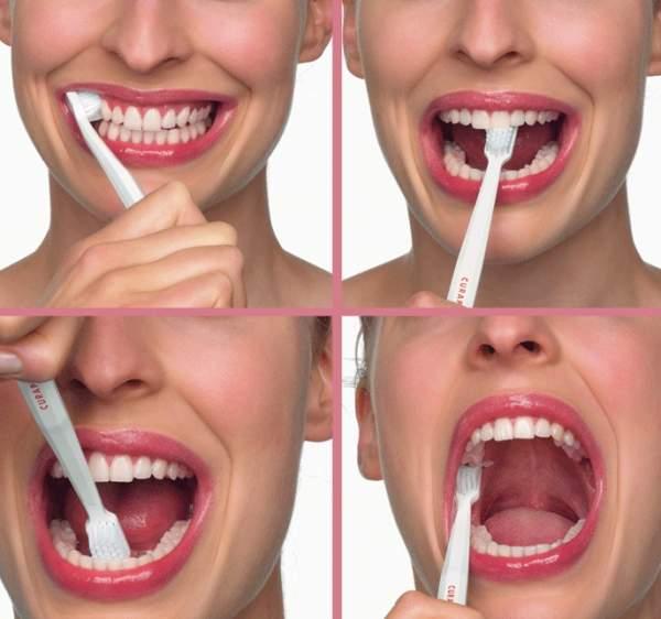 come si spazzolano i denti bene