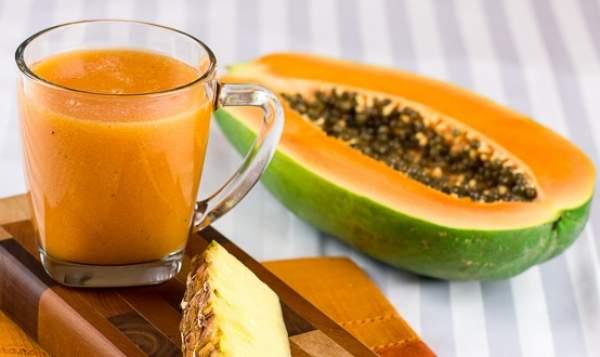 frullato ananas e papaya dimagrante