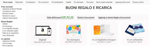 tipologie buoni amazon