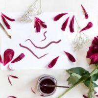 come si fa l'inchiostro con i fiori