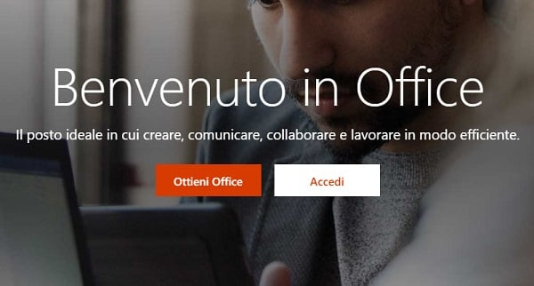 accedere a office online