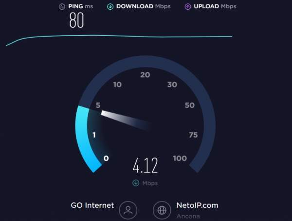 download test di speedtest.net
