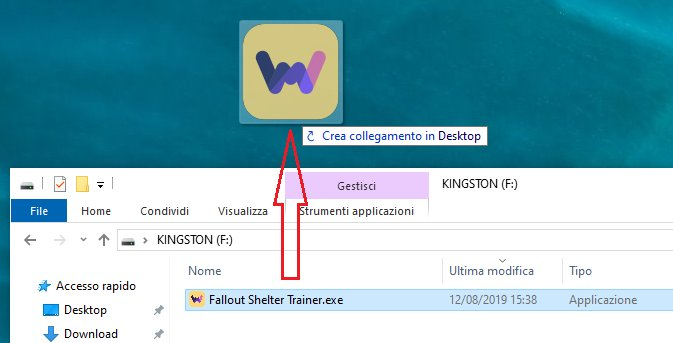 collegamento file sul desktop