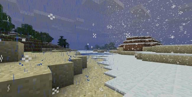 far nevicare su minecraft