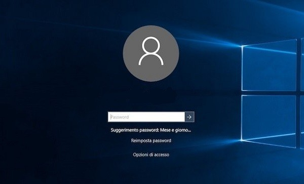 reimpostare password windows