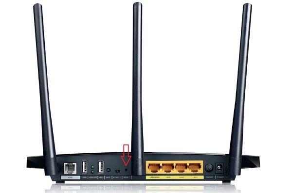 pulsante reset del modem