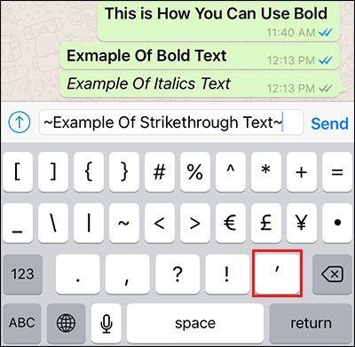 formattare testo whatsapp
