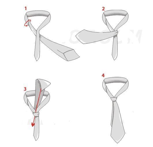 come si fa il nodo piccolo alla cravatta
