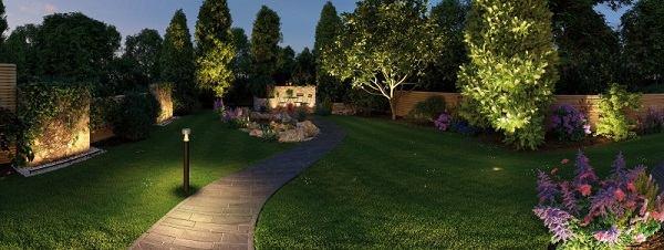 illuminazione a led per i giardino