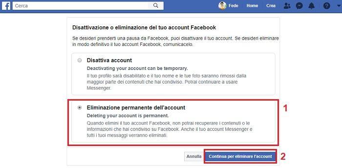 addio facebook