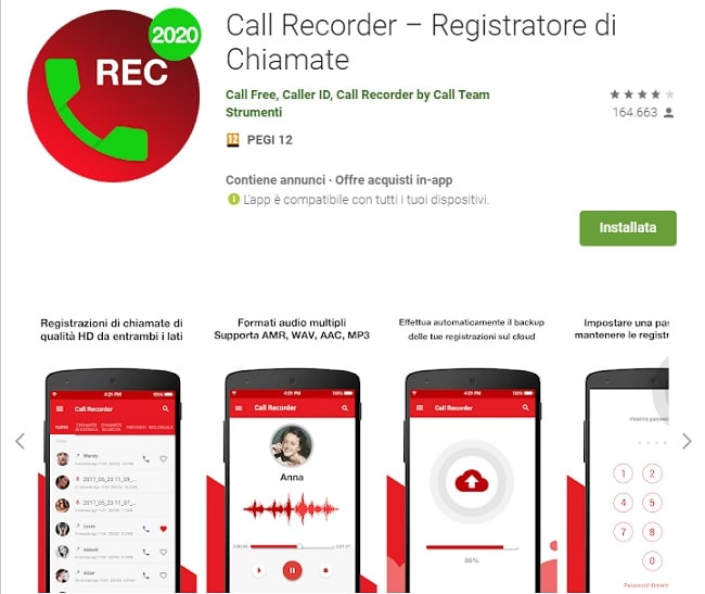 registratore di telefonate
