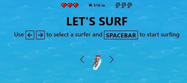 gioco di surf su edge