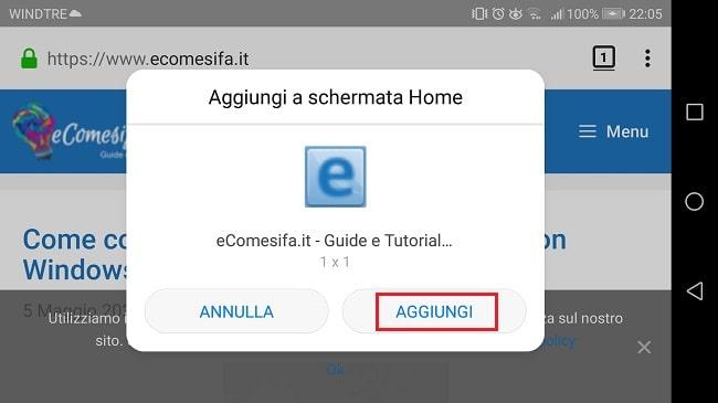 aggiungere pagina a schermata android