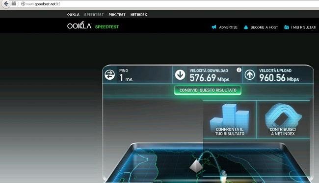 ridurre ping internet