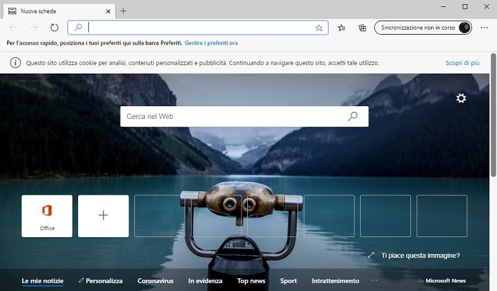 nuovo browser edge