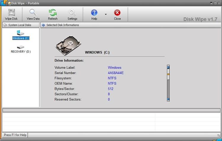 eliminare definitivamente file con disk wipe