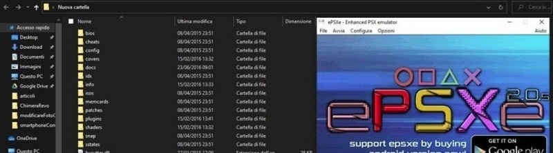emulatore ps1 epsxe