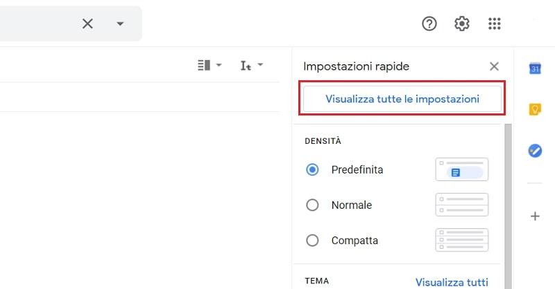 impostazioni avanzate di gmail