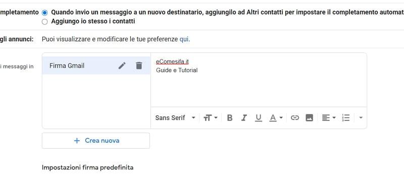 dati firma mail